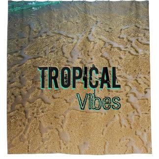 Kundenspezifischer tropischer duschvorhang