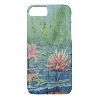 Kundenspezifischer tropischer Pfirsich-Lilien iPhone 8/7 Hülle