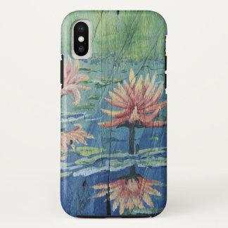 Kundenspezifischer tropischer Pfirsich-Lilien iPhone X Hülle