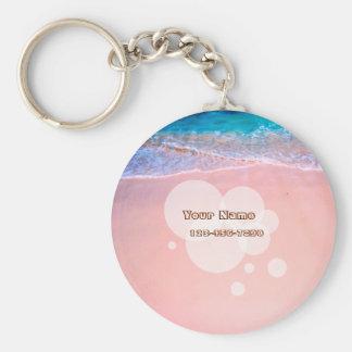 Kundenspezifischer tropischer Strand Schlüsselanhänger