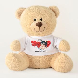 Kundenspezifischer Valentine-Liebe-Bär Teddy