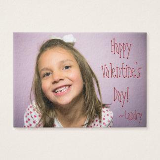 Kundenspezifischer Valentinsgruß für Kinder mit Visitenkarte