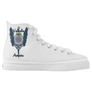 Kundenspezifischer Walhall-Schädel-hohe Hoch-geschnittene Sneaker