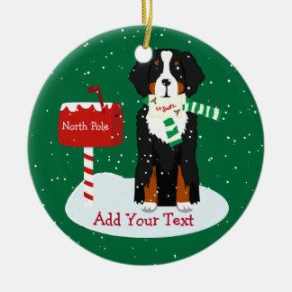 Kundenspezifischer WeihnachtenBernese Mt Keramik Ornament