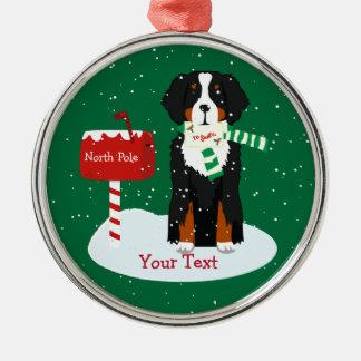 Kundenspezifischer WeihnachtenBernese Mt Silbernes Ornament