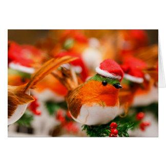 Kundenspezifischer Weihnachtsrobin-Vogel in der Karte
