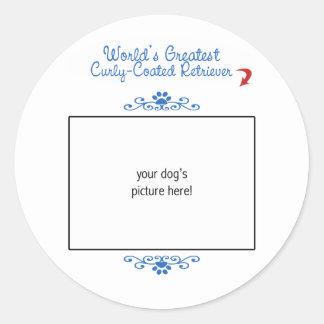 Kundenspezifischer weltbester Gelockt-Überzogener Runder Sticker
