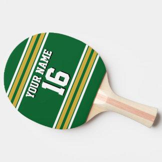 Kundenspezifischer Zahl-Name DIY BG grünes Tischtennis Schläger