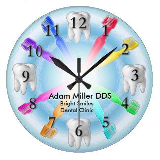 Kundenspezifischer Zahnarzt-Uhr-Regenbogen Große Wanduhr