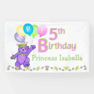 Kundenspezifisches 5. Geburtstags-Party Banner
