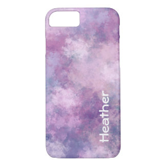 Kundenspezifisches abstraktes Blau, Flieder, rosa iPhone 7 Hülle