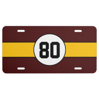 Kundenspezifisches Auto-Kfz-Kennzeichen Burgunders US Nummernschild