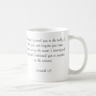 Kundenspezifisches Baby-Bibel-Vers-Foto Kaffeetasse