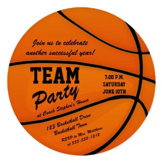Kundenspezifisches Basketball-Team-Party Quadratische 13,3 Cm Einladungskarte