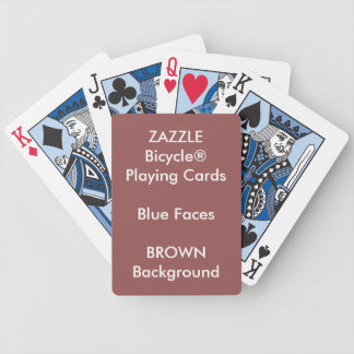 Kundenspezifisches Bicycle® blaues Bicycle Spielkarten