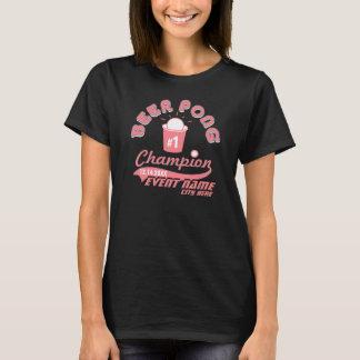 Kundenspezifisches Bier Pong Meister-Preis-Shirt T-Shirt