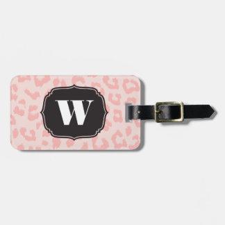 Kundenspezifisches blasses - rosa Leopard-Druck Kofferanhängern