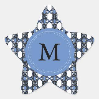 Kundenspezifisches blaues abstraktes Stern-Aufkleber