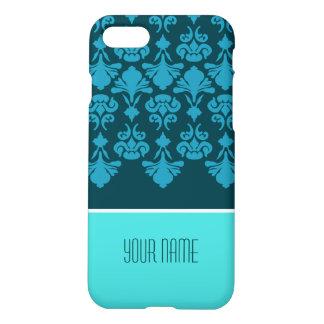 Kundenspezifisches blaues Marine-Blumen-Muster iPhone 8/7 Hülle