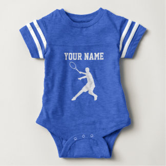 Kundenspezifisches blaues Tennis trägt Baby Strampler