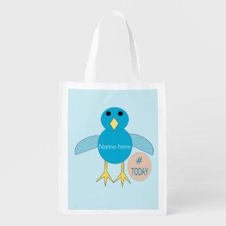 Kundenspezifisches blaues wiederverwendbare einkaufstasche