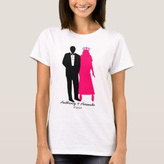 Kundenspezifisches Braut- und T-Shirt