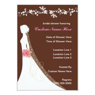 Kundenspezifisches Brautparty lädt ein 12,7 X 17,8 Cm Einladungskarte