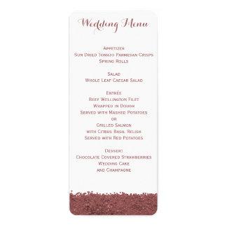 Kundenspezifisches Brown Marsala und weißes 10,2 X 23,5 Cm Einladungskarte