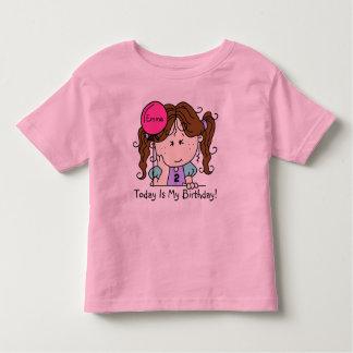 Kundenspezifisches brünettes Mädchen mit Kleinkinder T-shirt