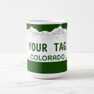 Kundenspezifisches Colorado-Kfz-Kennzeichen Kaffeetasse