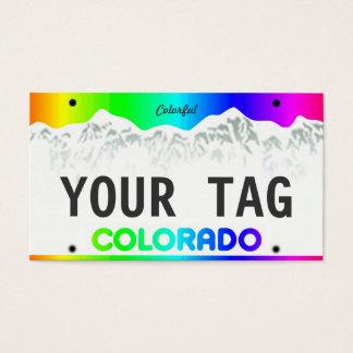 Kundenspezifisches Colorado-Kfz-Kennzeichen - Visitenkarte