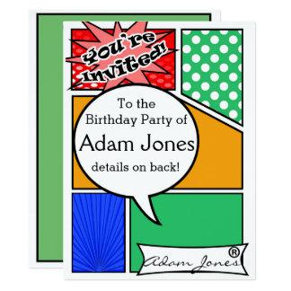 Kundenspezifisches Comic-Buch-Party lädt ein 16,5 X 22,2 Cm Einladungskarte