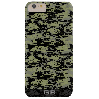Kundenspezifisches Didgital Camouflage-Monogramm Barely There iPhone 6 Plus Hülle