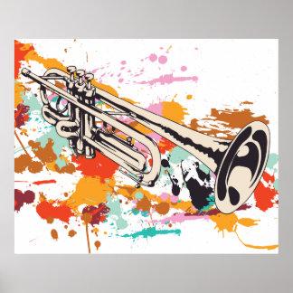 Kundenspezifisches Druckplakat des Trompetemusikin