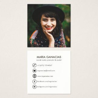Kundenspezifisches einfaches quadratische visitenkarte