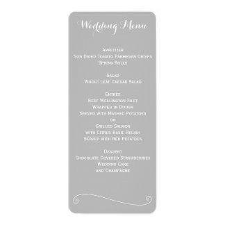 Kundenspezifisches elegantes graues und weißes 10,2 x 23,5 cm einladungskarte
