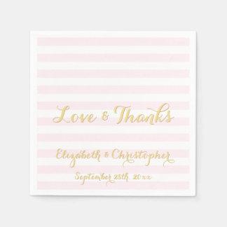 Kundenspezifisches elegantes Hochzeits-Rosa Serviette