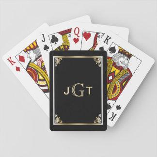 Kundenspezifisches elegantes schwarzes Gold der Spielkarten