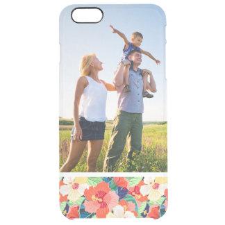 Kundenspezifisches Foto-buntes Hibiskus-Muster Durchsichtige iPhone 6 Plus Hülle