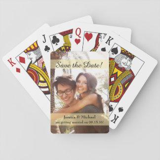 Kundenspezifisches Foto, das Save the Date Wedding Spielkarten