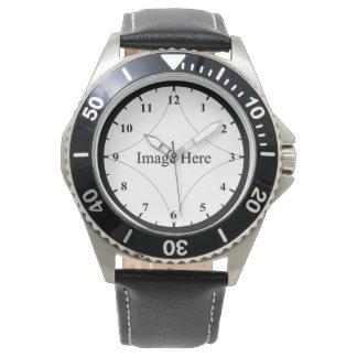 Kundenspezifisches Foto, der rostfreie Stahl-Uhr Uhr