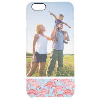 Kundenspezifisches Foto-helle rosa Flamingos auf Durchsichtige iPhone 6 Plus Hülle