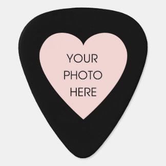 Kundenspezifisches Foto-Herz (Front und Rückseite) Plektron