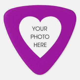 Kundenspezifisches Foto-Herz (Rosa und Schwarzes) Plektrum