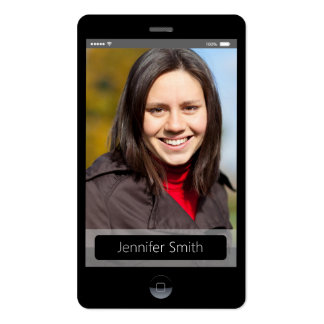 Kundenspezifisches Foto - iPhone IOS-Art Visitenkarten