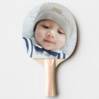 Kundenspezifisches Foto mit Monogramm und Namen Tischtennis Schläger