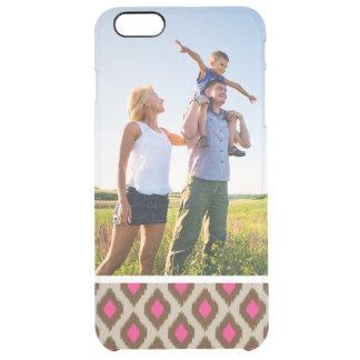 Kundenspezifisches Foto modernes ikat Muster Durchsichtige iPhone 6 Plus Hülle