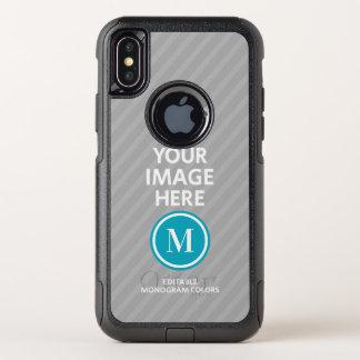 Kundenspezifisches Foto-Monogramm OtterBox Commuter iPhone X Hülle