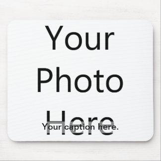 Kundenspezifisches Foto Mousepad mit Titel (schwar