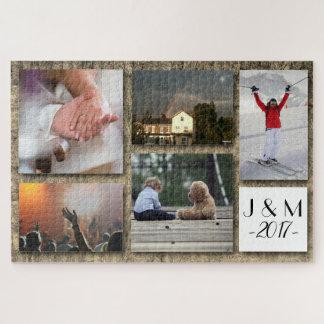 Kundenspezifisches Foto-personalisierte Collage Puzzle